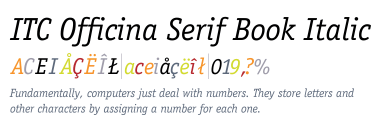 Itc Officina Serif Book