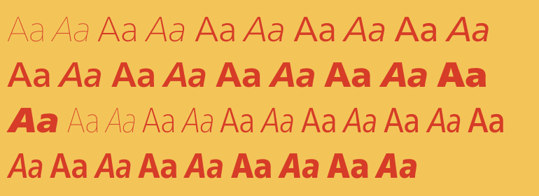 Neue Frutiger™ Cyrillic Complete Family Pack