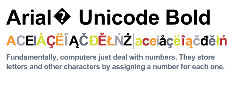 Arial® Unicode MS Bold - Fonts com