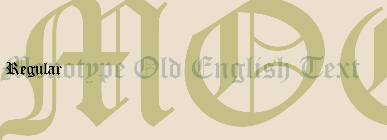 Monotype Old English Text™ Font Family - Fonts com