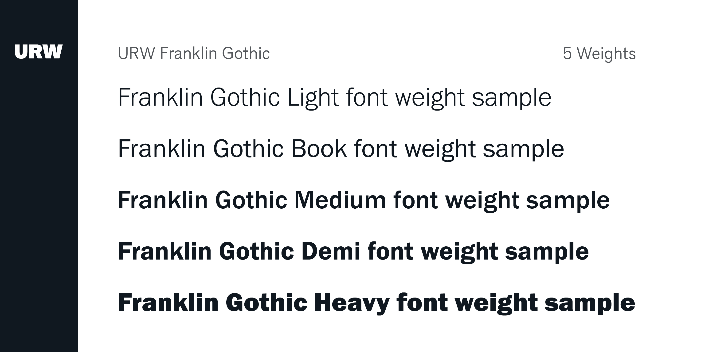 Franklin Gothic Font Family Typeface Story - Fonts com