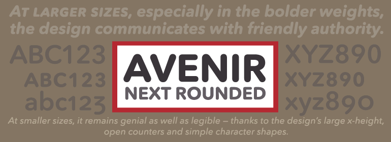 Avenir® Next Rounded Font Family - Fonts com