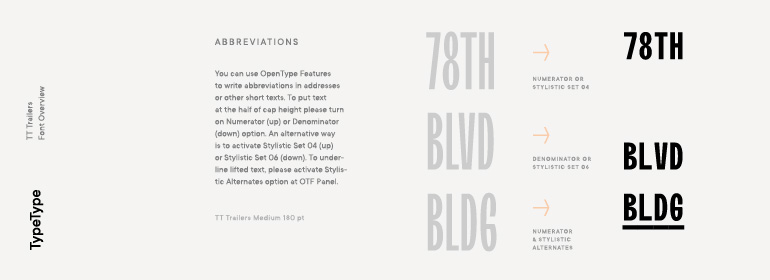 TT Trailers Font Family Typeface Story - Fonts com