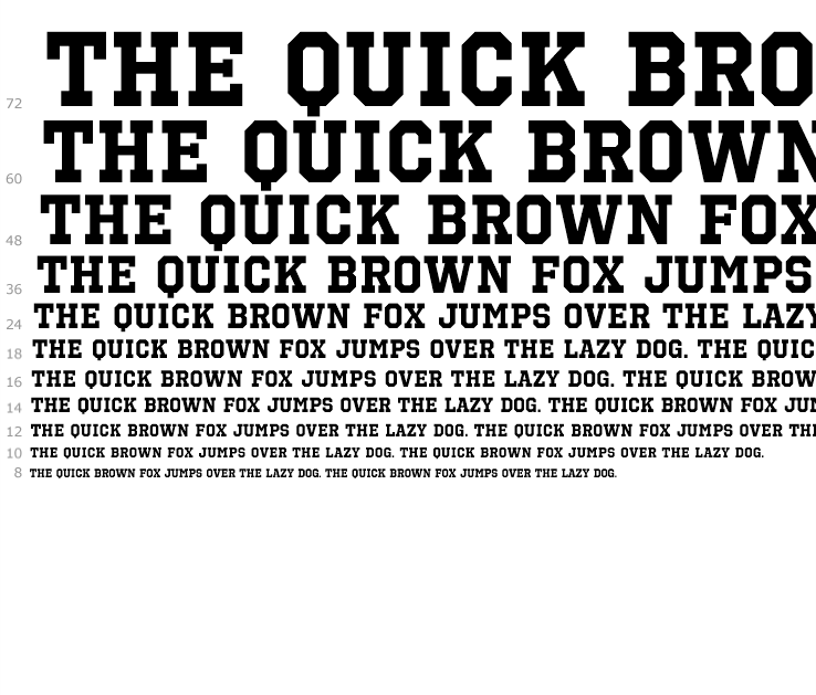 font sports fonts bold octin prison text fox heavy sample enter button try change web quick brown