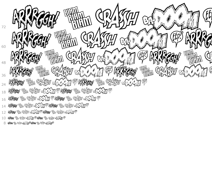 Wild And Crazy ZAP Pack Complete Family Pack - Fonts com