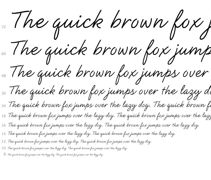Natural script complete family pack fonts